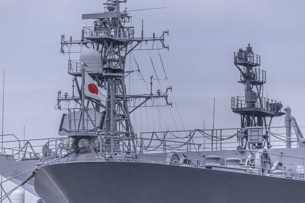 gray Japanese naval ship