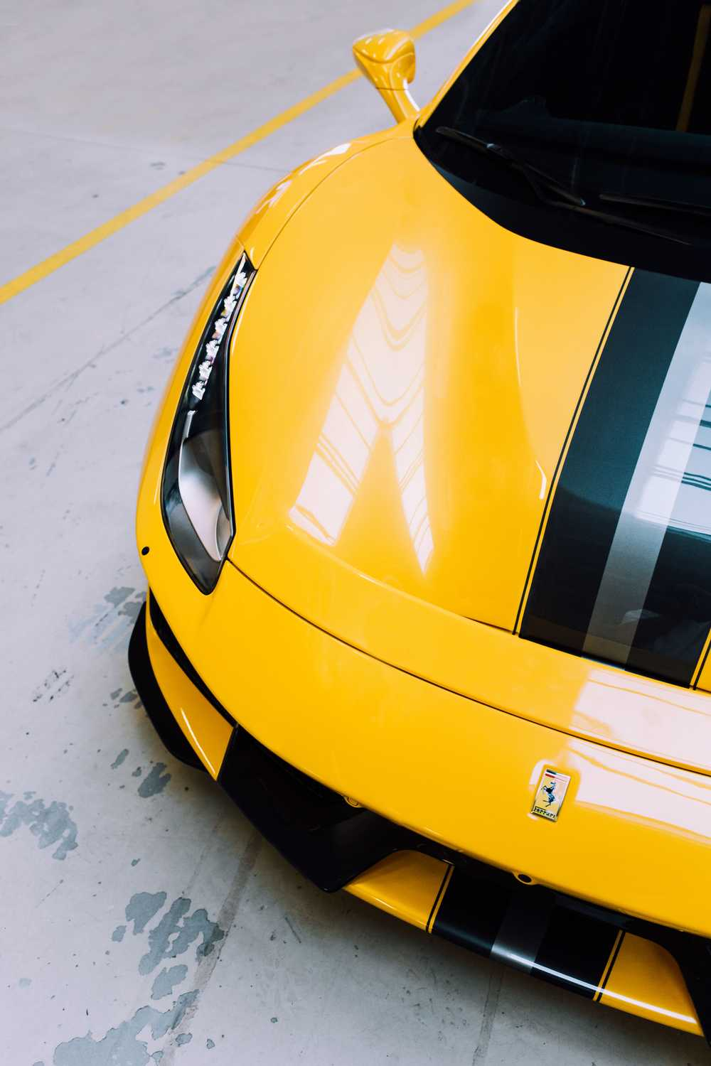 yellow and black car