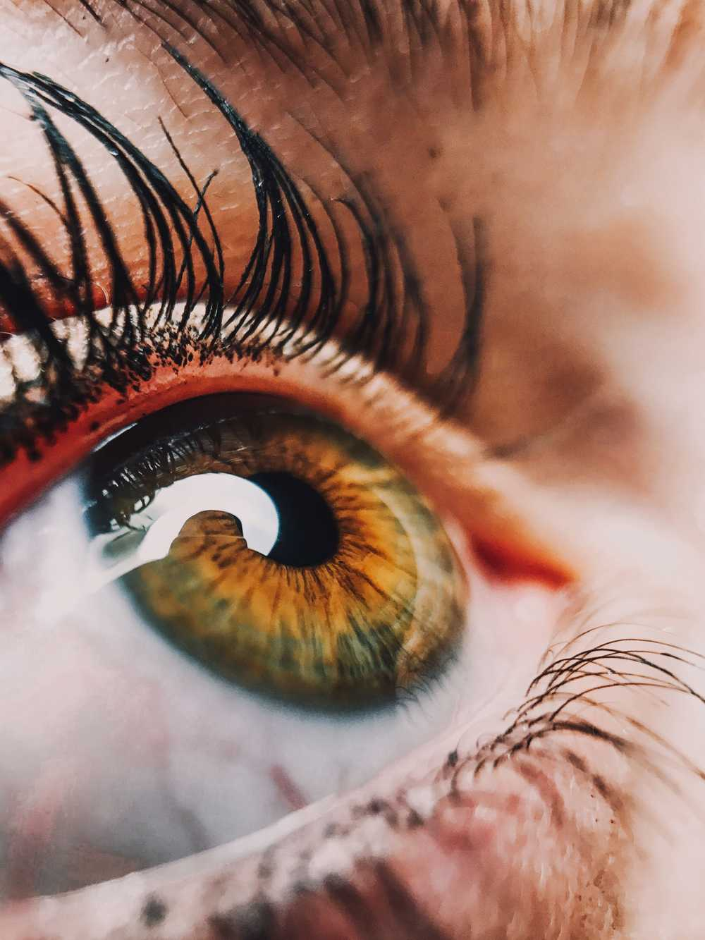 human eye close-up photography
