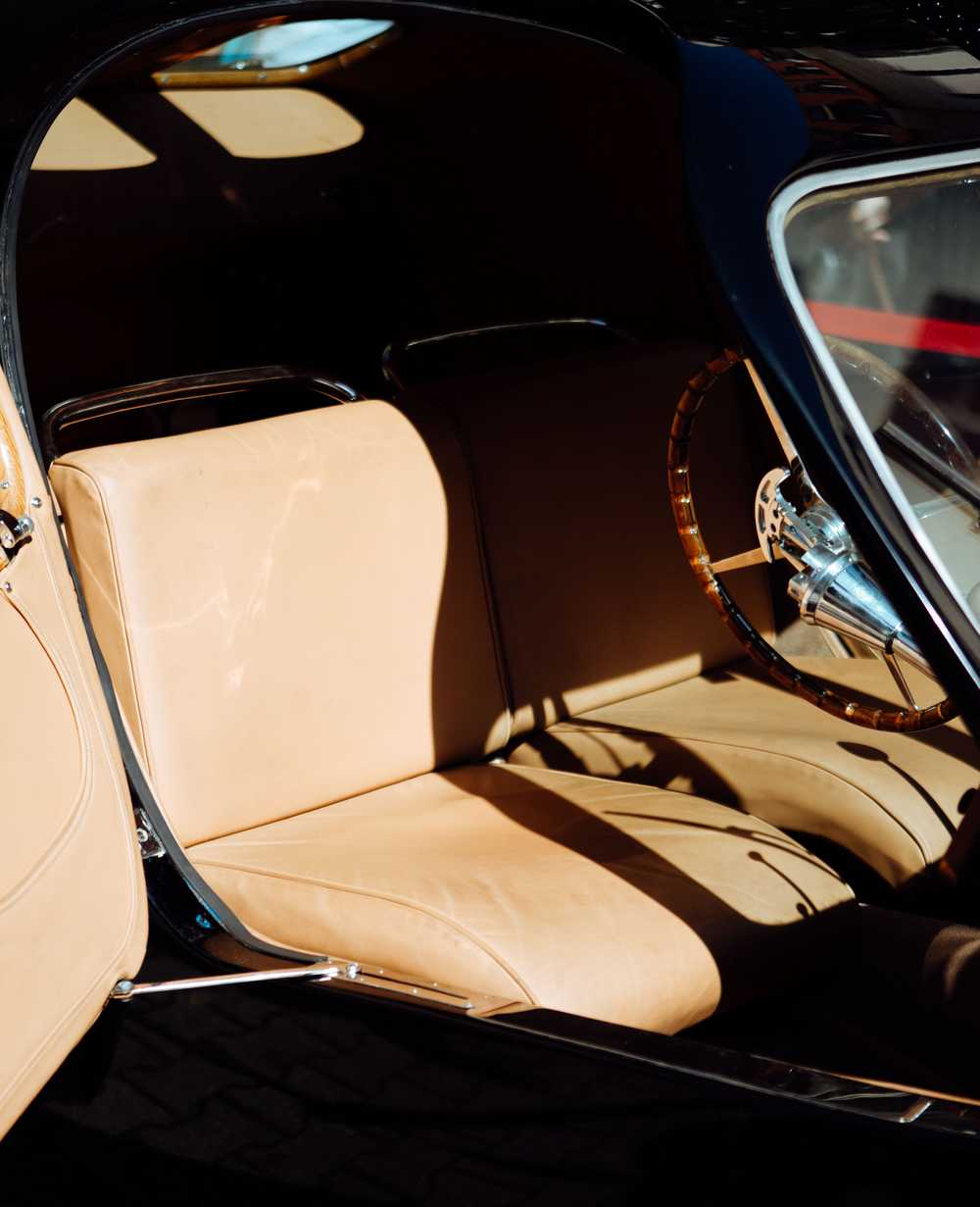brown leather car seat interior