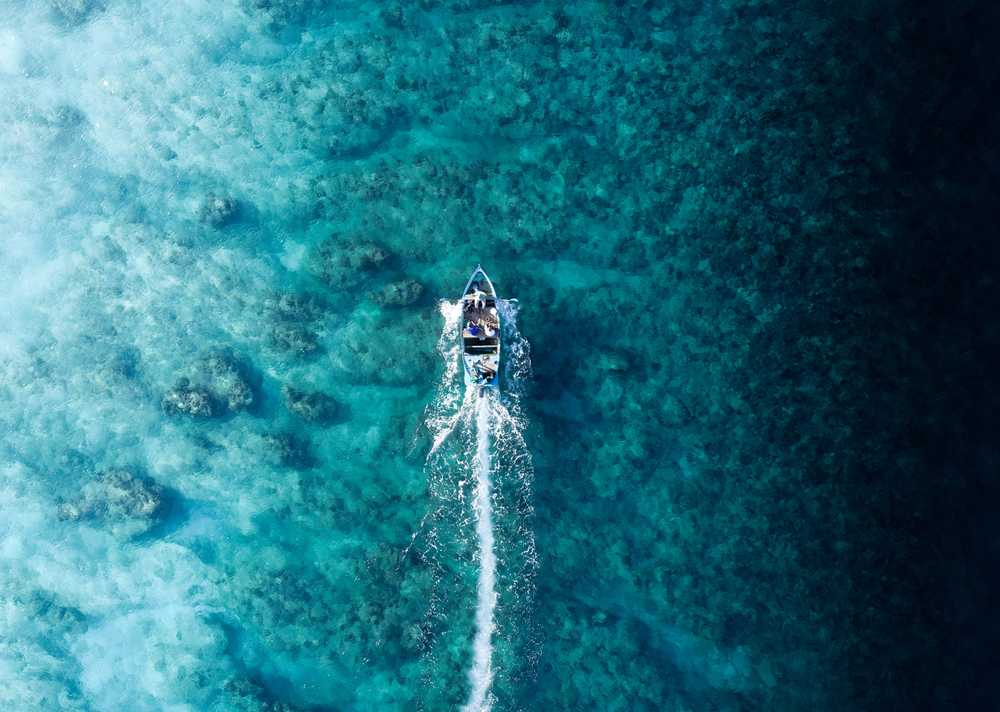 aerial photography of speedboat in blue ocean
